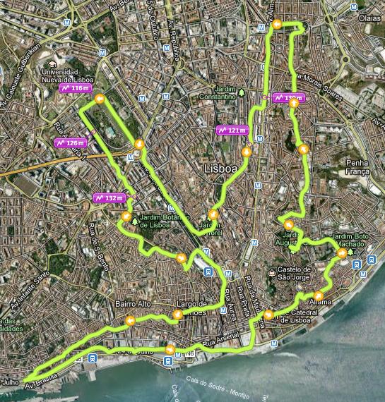 miradouros de lisboa mapa Os miradouros de Lisboa. Parte 3.   kmepalavras miradouros de lisboa mapa