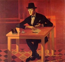 Fernando Pessoa. Óleo sobre tela de Almada Negreiros. 1954.
