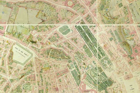 Passeio Publico carta topografica de 1856
